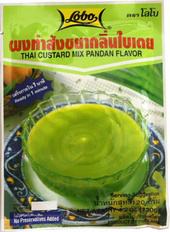 Lobo Thai Custard Mix Pandan Flavour 120g