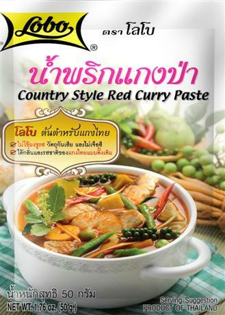 LOBO Country Style Red Curry Paste 50g