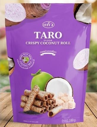 Kaew Thai  Crispy Coconut Roll Taro Flavor  100g