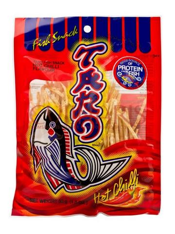 Thai Taro Fish Snack Hot Chili Flavour 25g
