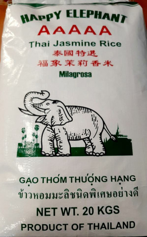 Happy Elephant Thai Jasmine rice 20kg