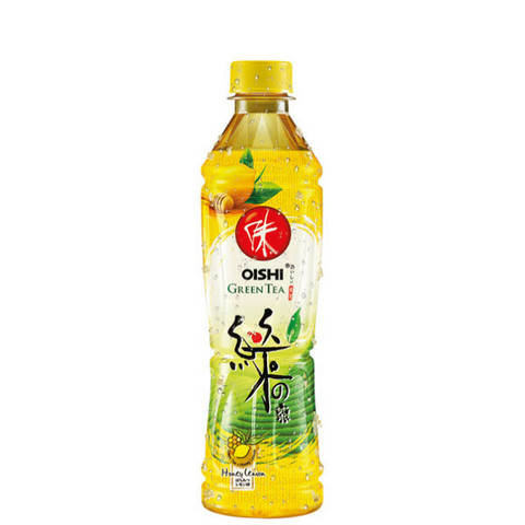 OISHI GREEN TEA WITH HONEY AND LEMON(hunaja-lemon vihreä tee) 500ml