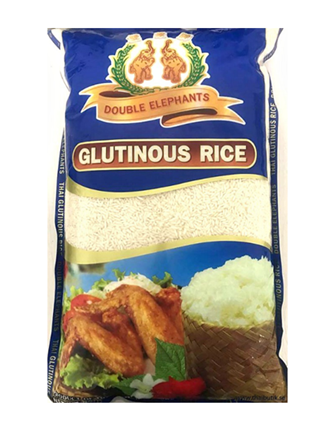 Double Elephants Thai Glutinous Rice 2kg Sticky rice