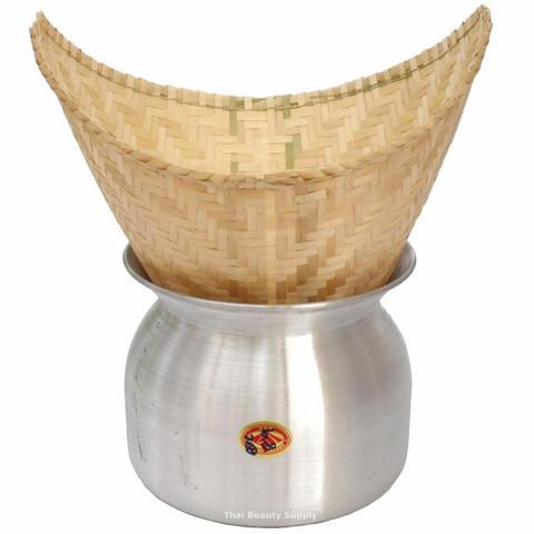 Thai sticky rice steamer ( Makeariisi haudutin+kattila)