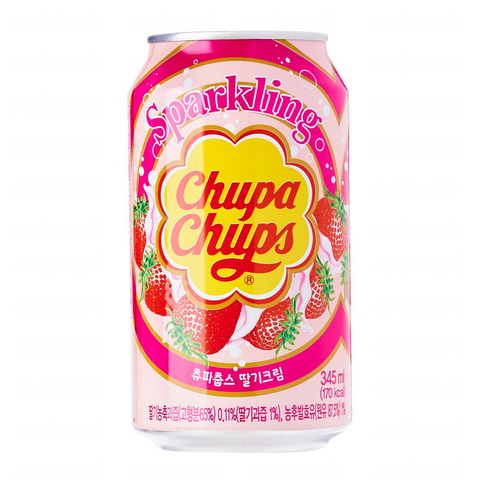 Chupa Chups Strawberry Soda Mansikka limonadi 345ml