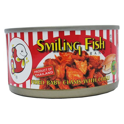 Smiling Fish Fried Baby Clams With Chilli 70g