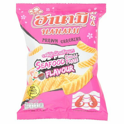 Hanami Seafood Chili Paste Flavour Prawn Crackers 60g