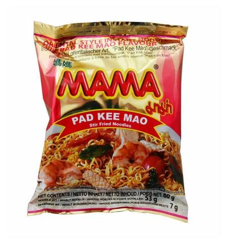 MAMA PAD KEE MAO STIR FRIED INSTANT NOODLES 30 x 60g Box