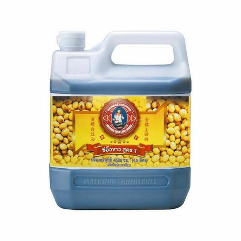 Mae Krua Brand  Gold Label Soy Sauce Formula1   4.5L