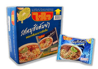 Wai Wai Instant Noodles Minced Pork Tom Yum Flavour 60g. Pack 30 Box