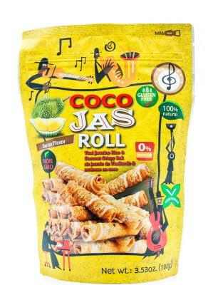 Rice & Coconut Crispy Roll – Durian Flavour – COCO JAS 100g GLUTEN FREE