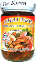 Por Kwan Chili Paste with Sweet Basil Leaves 200g