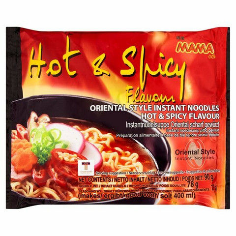 Mama Hot & Spicy Noodles 90G