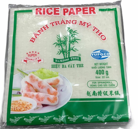 Rice Paper 22cm square Bamboo Tree. 400gr
