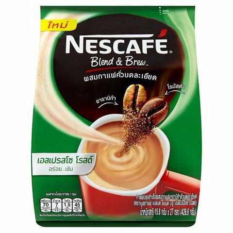 Nescafé Blend & Brew Espresso Roasted Cofee Mix Powder 15.8g x 27pcs