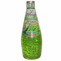 V-FRESH Pandan Drink with Basil Seed 290 ml.