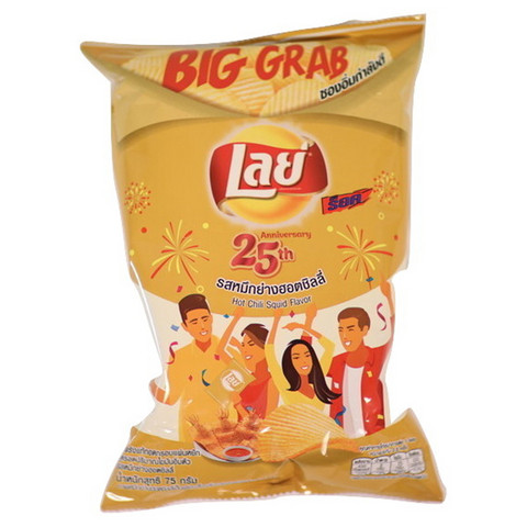 Lay's – Potato Chips Hot Chili Squid – 75g