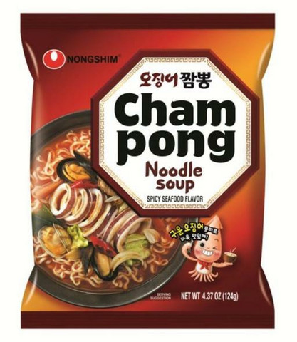 Nongshim Champong Seafood Hot & Spicy Noodle 124g