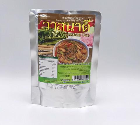 WassanaDee, Kaeng Tai Pla  Read-to-Eat Fish Curry 180g.