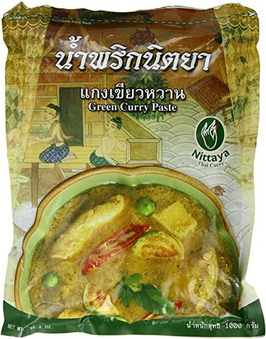 Nyittaya Green curry paste 1kg