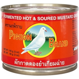 Tarjous! Pigeon Brand Fermented Hot & Soured Mustard Green 140g