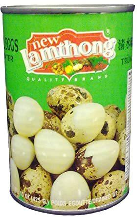 Tarjous! Lamthong Quail Eggs in Water. Viiriäisen munia  425g