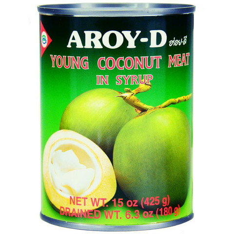 Aroy-D Young Coconut Meat in Syrup 425ml