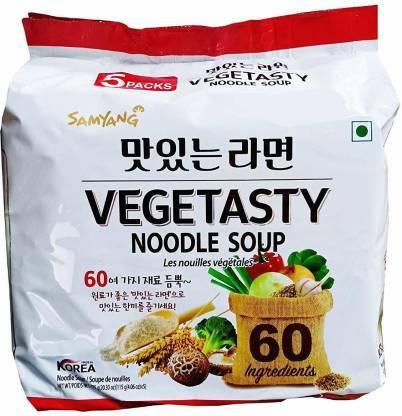 TARJOUS ! Samyang Vegetasty Noodle Soup  Vegetarian  (5 x 115 g)