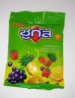 Sugus chewy candy 45 g flavored orange blackcurrant pineapple