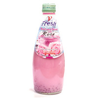 V-fresh Drink with Rose flavour and Basil seed 290ml