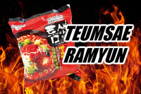 Extra Hot Spicy Korean  Noodles Teumsae Ramyun Paldo brand 120g