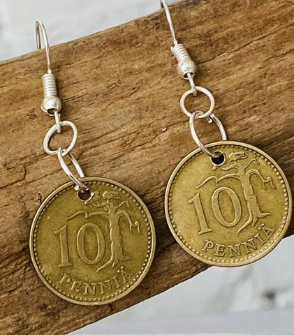 Korvakorut 10 penniä 1963
