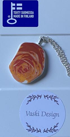 Uniikki kaunis astiakoru riipus, ruusu