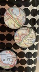 Tilaustyö kartta magneetti