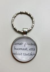 Jonain päivänä- avaimenperä