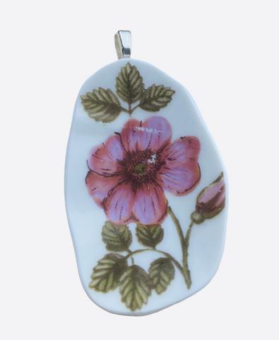 Uniikki kaunis astiakoru riipus, punertava kukka