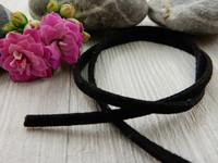 Tekomokka nauha, 3mm, musta, 1m