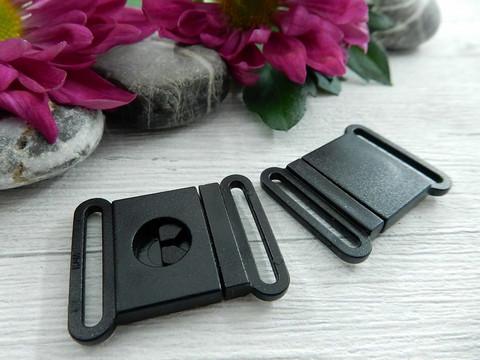 Kiinnitysklipsi, 20mm, musta, 1kpl