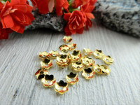 Helmihattu kukka, 4mm, kulta, 100kpl