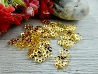 Helmihattu kukka, 6mm, kulta, 100kpl