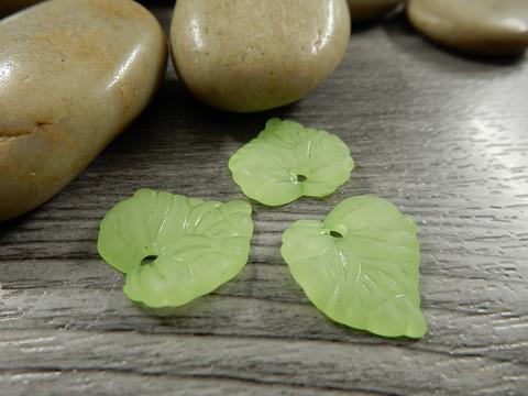 Lehtiriipus, 15x15mm, vaaleanvihreä, 1kpl