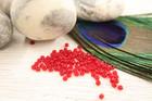 Siemenhelmi, 2mm, punainen, 500kpl