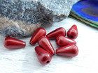 Heijastava helmi, 10x6mm, punainen, 1kpl