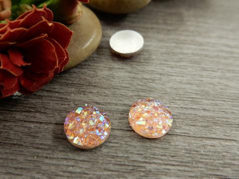 Kapussi glitter, 8mm, vaaleanpunainen, 1kpl