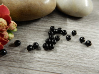 Akryylihelmi, 3mm, musta, 50kpl