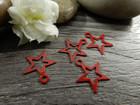 Tähtiriipus, 11x10mm, punainen, 1kpl