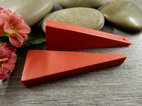 Kartio puuriipus, 40x14mm, punainen, 1kpl