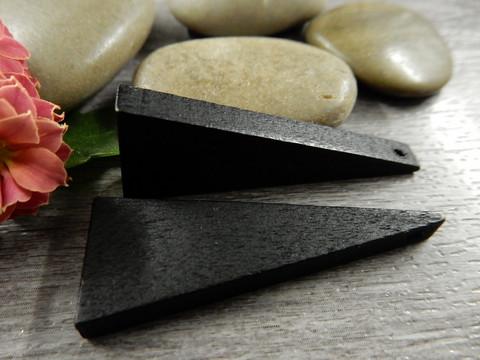 Kartio puuriipus, 40x14mm, musta, 1kpl