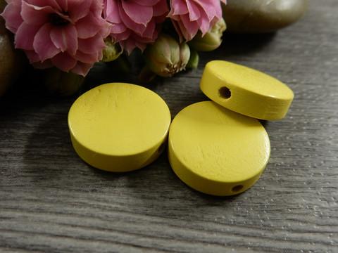 Puuhelmi, 15mm, keltainen, 1kpl