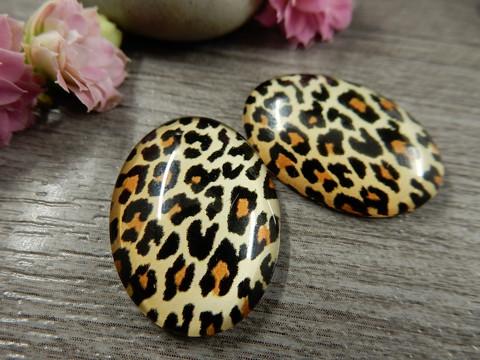 Kapussi leopardi, 18x25mm, ruskea, 1kpl